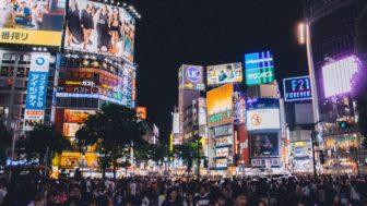 大晦日の夜、渋谷スクランブル交差点を立ち入り制限
